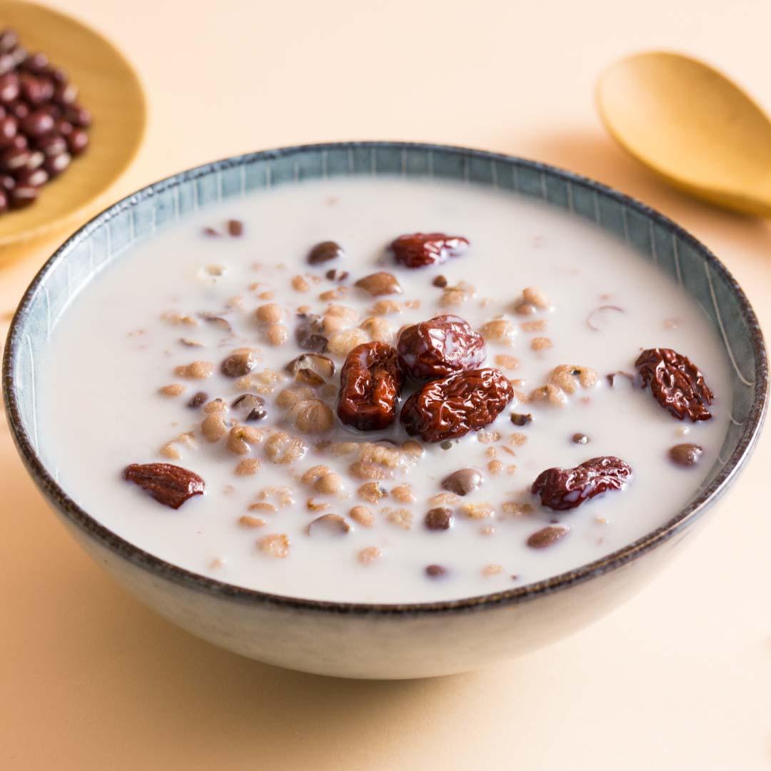 红豆薏仁牛奶粥